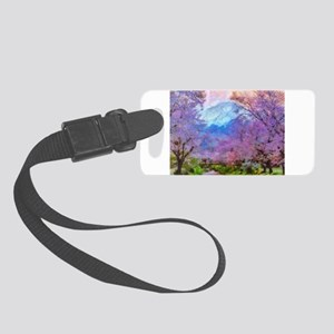 Cherry Blossom Mountain Small Luggage Tag