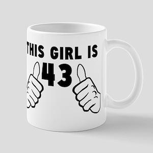 This Girl Is 43 Mugs