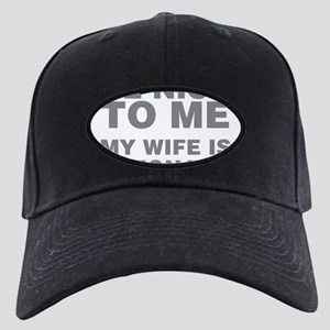 Be Nice To Me My Wife Is Pregnant Black Cap