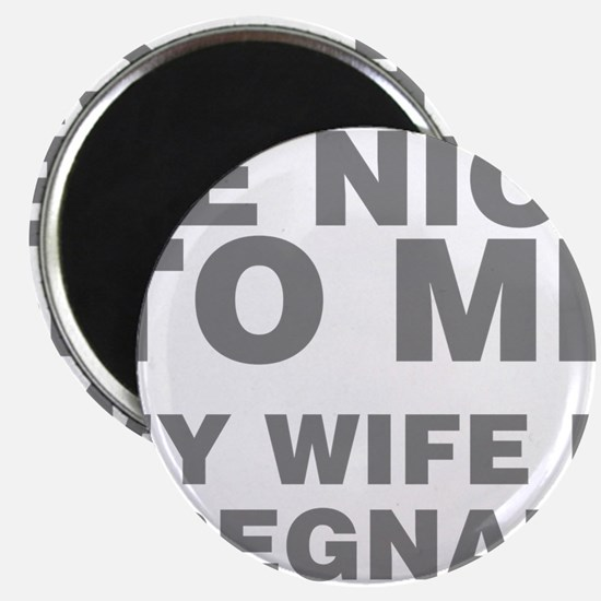 Be Nice To Me My Wife Is Pregnant Magnet