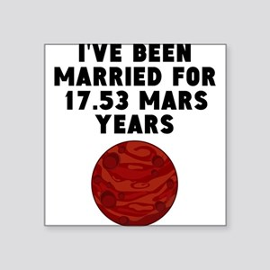 33rd Anniversary Mars Years Sticker