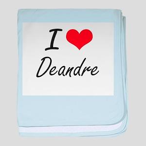 I Love Deandre baby blanket