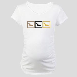 Dachshund Maternity T-Shirt