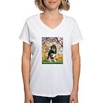 Spring-Aussie (Tri-L) Women's V-Neck T-Shirt