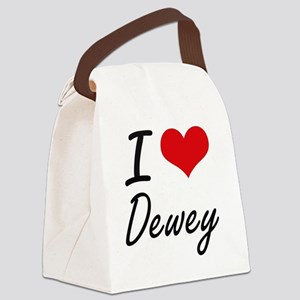 I Love Dewey Canvas Lunch Bag
