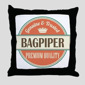 Bagpiper Throw Pillow
