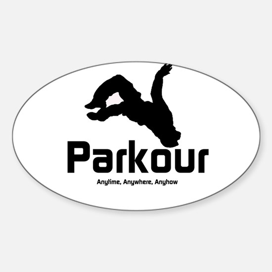 Parkour, Anytime Oval Decal