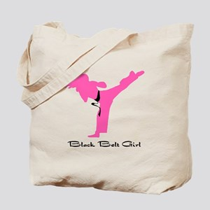 Black Belt Girl Tote Bag