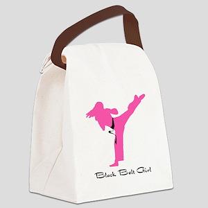 Black Belt Girl Canvas Lunch Bag