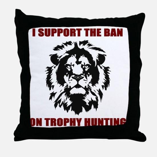 BAN TROPHY HUN Throw Pillow