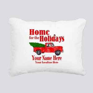 Home for the Holidays Rectangular Canvas Pillow