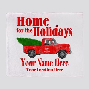 Home for the Holidays Throw Blanket