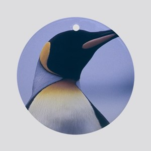 King Penguin Round Ornament