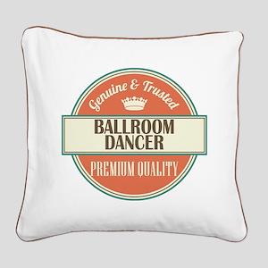 Ballroom Dancer Square Canvas Pillow