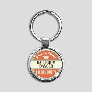 Ballroom Dancer Round Keychain