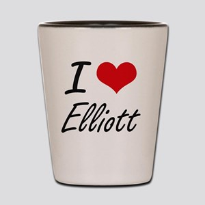 I Love Elliott Shot Glass