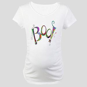 Halloween Boo! Colorful Design Maternity T-Shirt