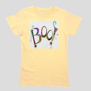 Halloween Boo! Colorful Design Girl's Tee