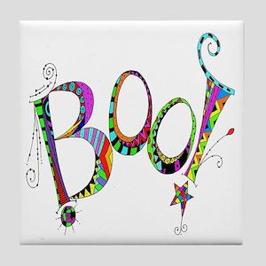 Halloween Boo! Colorful Design Tile Coaster