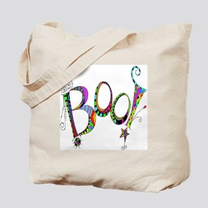 Halloween Boo! Colorful Design Tote Bag