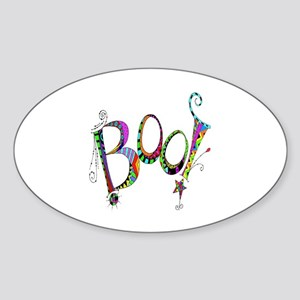 Halloween Boo! Colorful Design Sticker (Oval)
