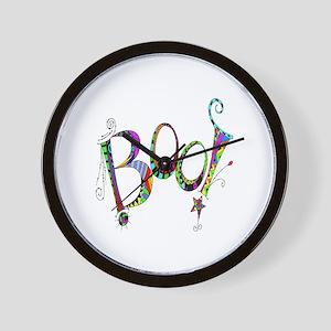 Halloween Boo! Colorful Design Wall Clock