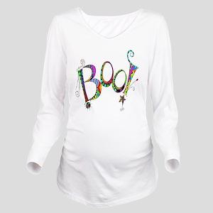 Halloween Boo! Color Long Sleeve Maternity T-Shirt