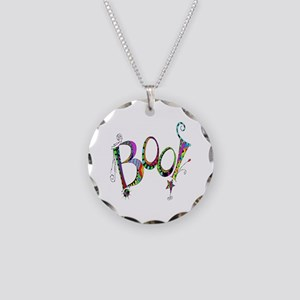 Halloween Boo! Colorful Desi Necklace Circle Charm