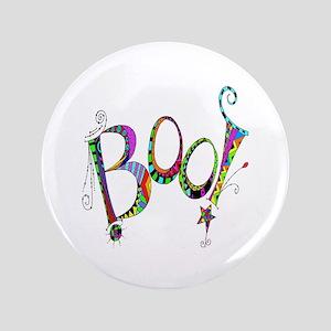 Halloween Boo! Colorful Design Button