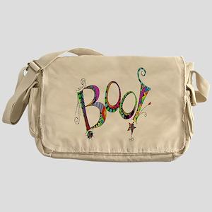 Halloween Boo! Colorful Design Messenger Bag