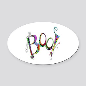 Halloween Boo! Colorful Design Oval Car Magnet