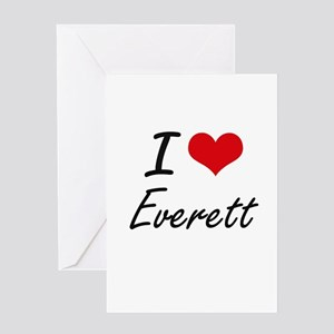 I Love Everett Greeting Cards