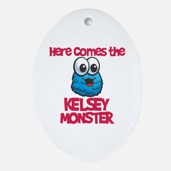 Kendall Monster Oval Ornament