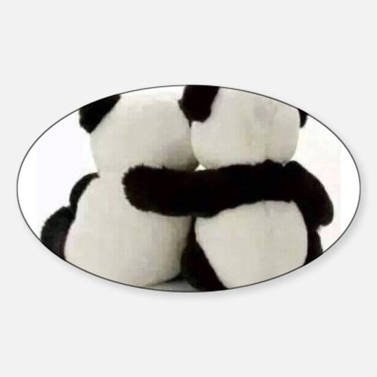 Cute Panda Sticker (Oval)
