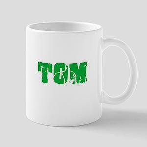 Tom Name Weathered Green Design Mugs