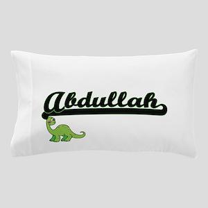 Abdullah Classic Name Design with Dino Pillow Case