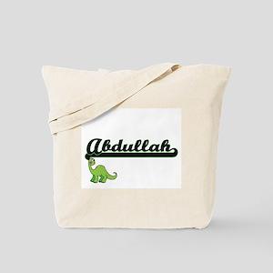Abdullah Classic Name Design with Dinosau Tote Bag