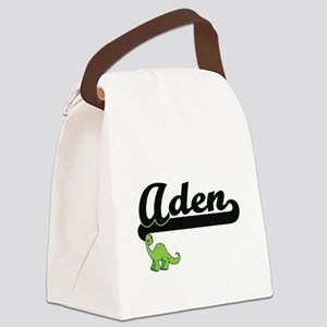 Aden Classic Name Design with Din Canvas Lunch Bag