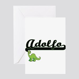 Adolfo Classic Name Design with Din Greeting Cards