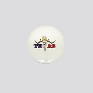 skull of texas Mini Button