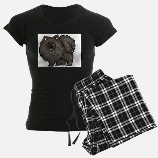 Cute Black pomeranian Pajamas