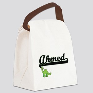 Ahmed Classic Name Design with Di Canvas Lunch Bag