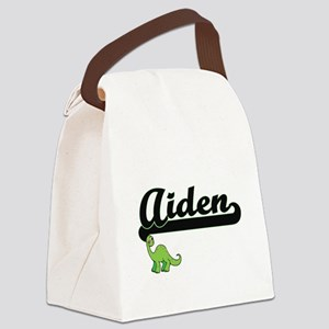 Aiden Classic Name Design with Di Canvas Lunch Bag
