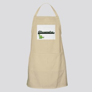 Alessandro Classic Name Design with Dinosaur Apron