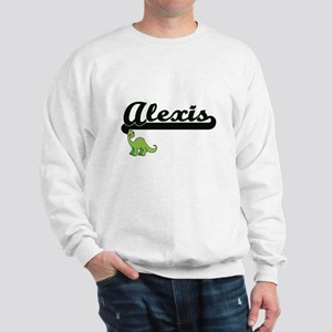Alexis Classic Name Design with Dinosau Sweatshirt