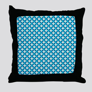 Turquoise and White Beads Throw Pillow