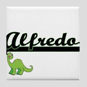 Alfredo Classic Name Design with Dino Tile Coaster