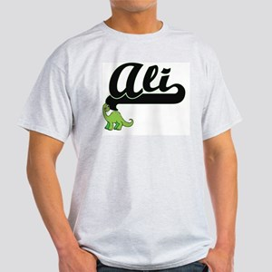 Ali Classic Name Design with Dinosaur T-Shirt