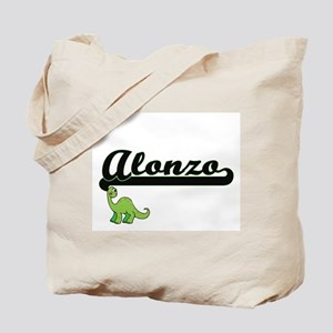 Alonzo Classic Name Design with Dinosaur Tote Bag