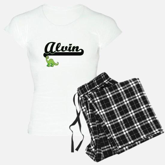 Alvin Classic Name Design w Pajamas